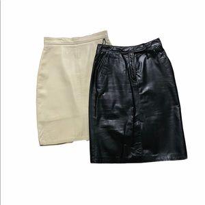 Leather skirts size 4-6 bundle $75